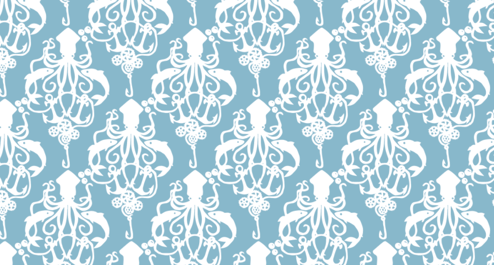 Steampunk Squid Damask
