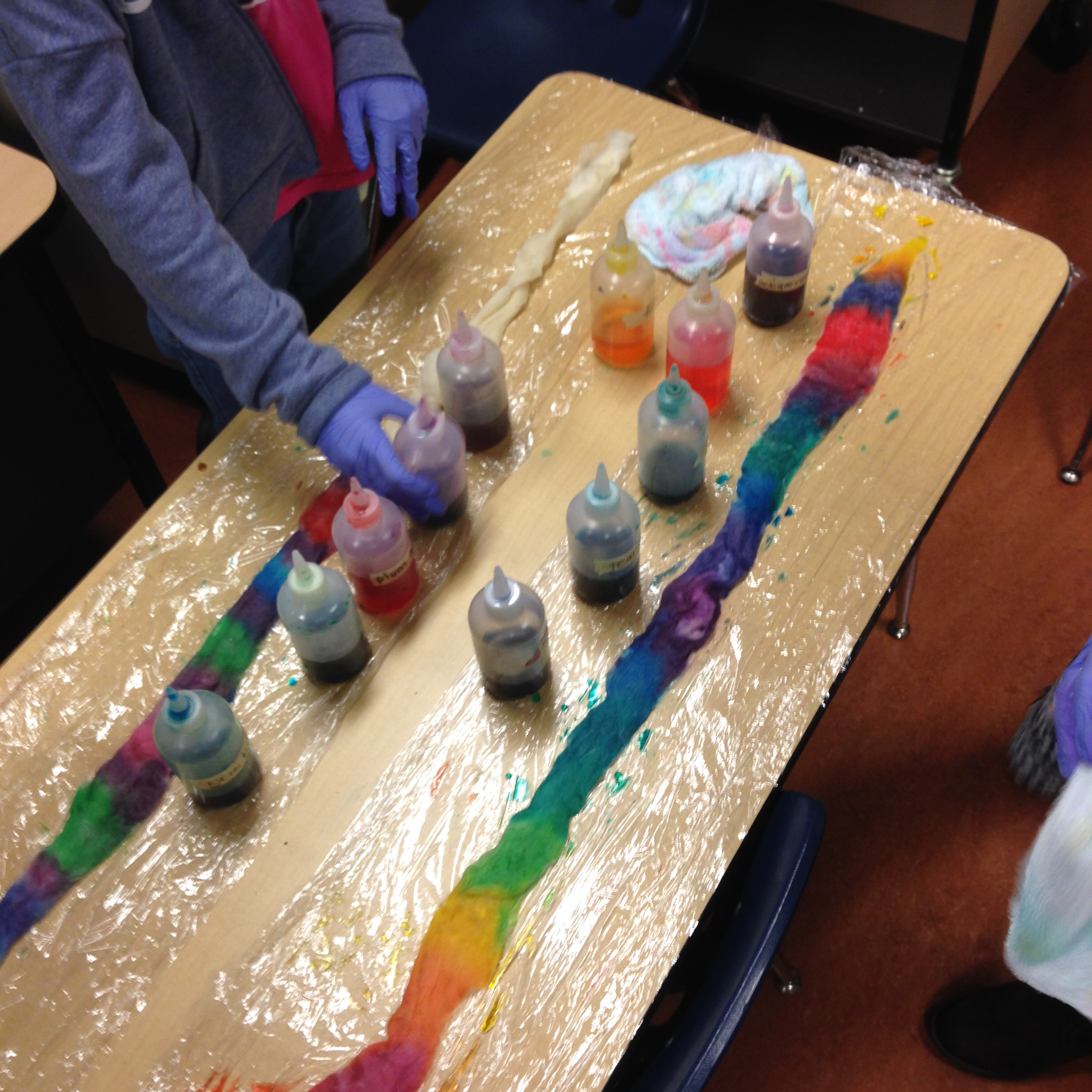Dyeing Yarn & Roving with Food Coloring | Becka\'s Project Journal